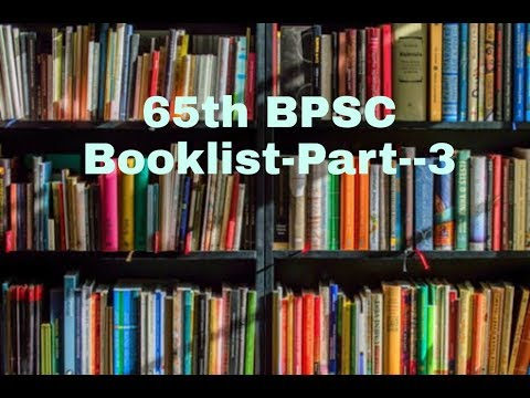 Download thumbnail for BPSC 65th Book List --Part --3 - YouTube