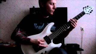Keith Merrow Pillars Of re-Creation Cover (Schecter Stealth C 1 )