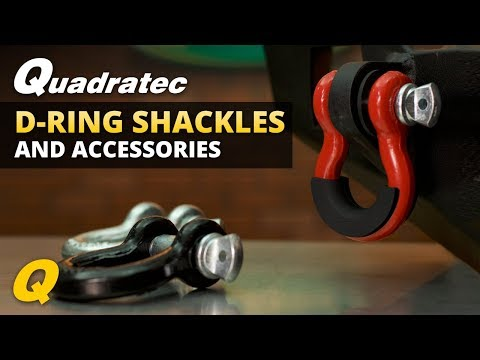 Quadratec D-Ring Shackles and Accessories for Jeep Wrangler