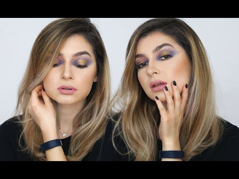 TUTORIAL || lila smokey eyes / gold touch