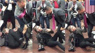 Trump rally choke-slam: Secret Service agent bodyslams Time photographer in Virginia - TomoNews