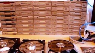 The Floppotron - Star Wars theme on 64 Floppy Drives