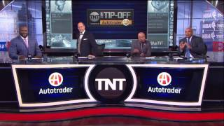 Inside The NBA Shaq Choke On Live TV