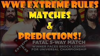 WWE Extreme Rules 2017 Matches Predictions and Review