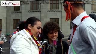 An imitation of Armenian wedding on March 8