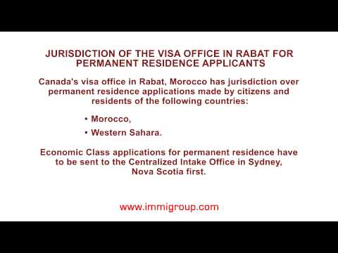 Jurisdiction of the visa office in Rabat for permanent residence applicants