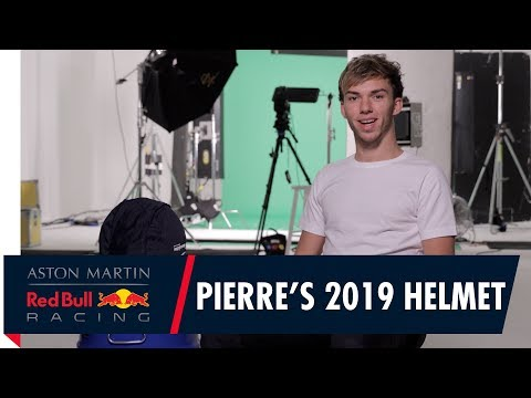 Pierre Gasly Introduces His 2019 Race Helmet