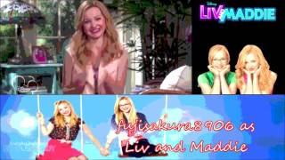 Liv and Maddie - Twin A Rooney -(Me as Liv and Maddie)