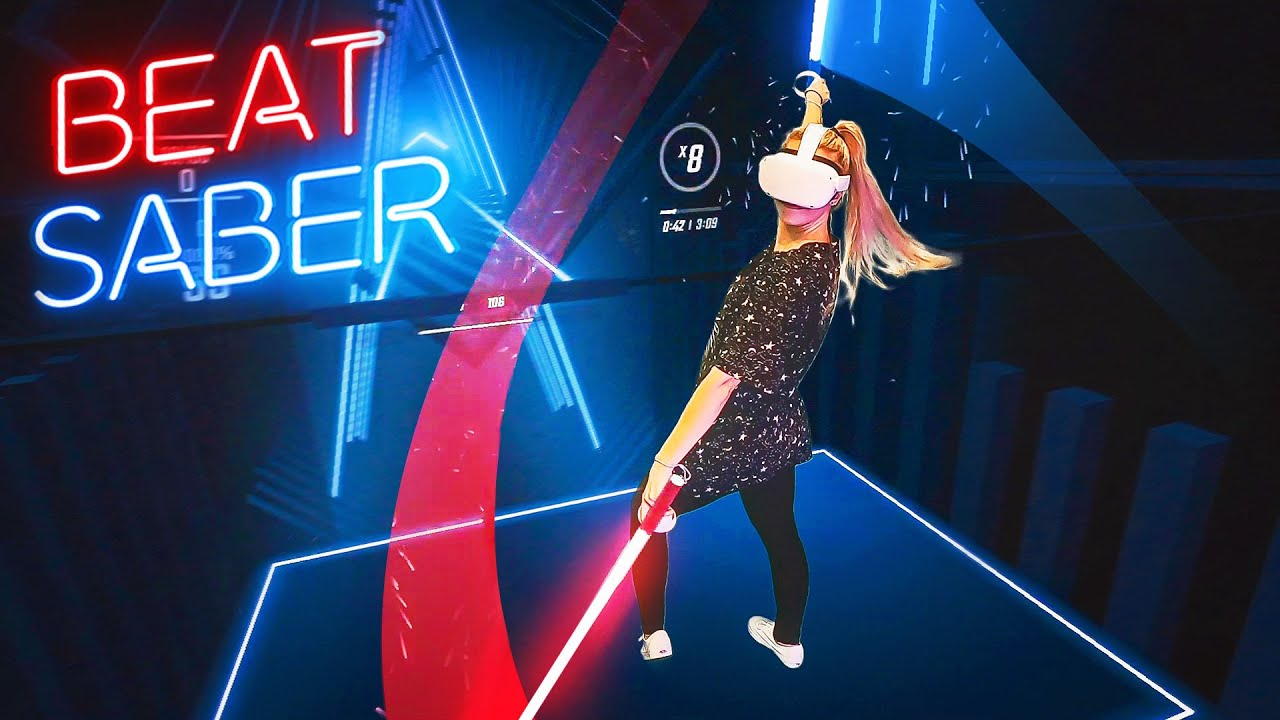 NoisyButters - BEAT SABER W OCULUS QUEST 2! + WIRELESS MIXED REALITY!? | NoisyButters