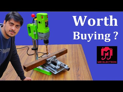220v Cheapest Drill Press from Banggood 710 Watts - Review & Test