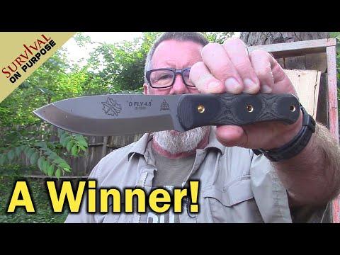Tops D-Fly 4.5 Bushcraft Knife - Sharp Saturday