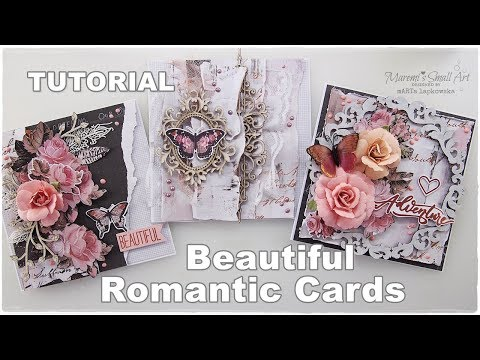 3 Beautiful Romantic Cards Tutorial ♡ Maremi's Small Art ♡