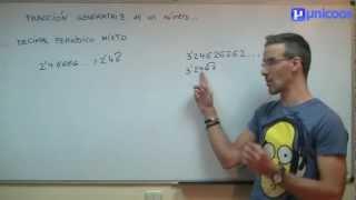 Imagen en miniatura para Fracción generatriz de un decimal periódico mixto