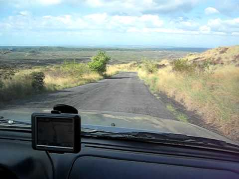 Driving down Volcano in Nicaragua using Garmin GPS Map Central America Costa Rica iPhone GPS