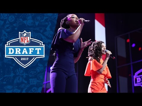Chloe and Halle Sing National Anthem to Kick off 2017 NFL Draft