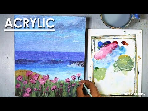 Acrylic Painting : A Sea landscape