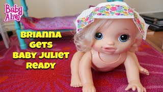 Baby Alive Gets Ready Brianna dresses Juliet