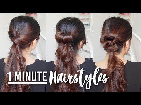 1 Minute Running Late Hairstyles Quick Easy Hair Tutorials Obsigen