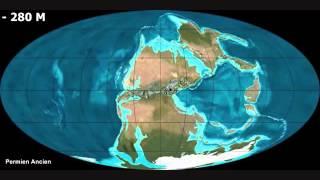 Deriva continental desde 600 milhões de anos atrás