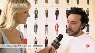 Interview MARCO DE VINCENZO Pitti Immagine Uomo 96 Florence 2019 - Fashion Channel