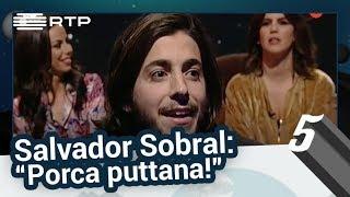 """Salvador Sobral: """"Porca puttana!"""" - 5 Para a Meia-Noite"""