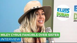 Miley Cyrus Admits Little Sister Noah Is Way Cooler | Elvis Duran Show