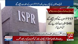 310 terrorists awarded death sentence in military courts: ISPR | 16 Dec 2018 | 92NewsHD