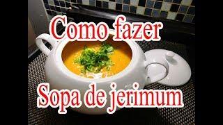 Como fazer sopa de jerimum ( Abóbora )