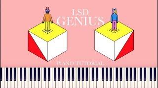 LSD - Genius (Piano Tutorial) [Labrinth, Sia, Diplo][+Sheets]