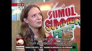 Tove Lo No Noticiário da SIC Notícias (04/07)