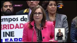 Rocío Nahle: MORENA es congruente y votó en contra del PEF17, presentando sus respectivas reservas
