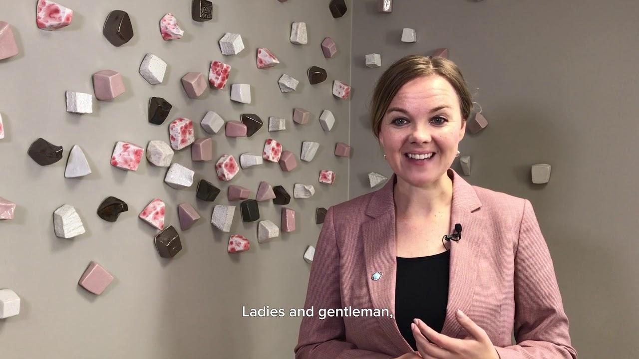 Katri Kulmuni opens the EU day at EMO Hannover 2019