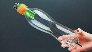 Ideia Super Legal Isqueiro Caseiro / 1 cool idea from a bottle and a lighter