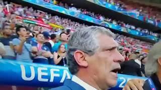 Euro 2016, a portuguesa, hino nacional português RTP1 dentro do repórter X