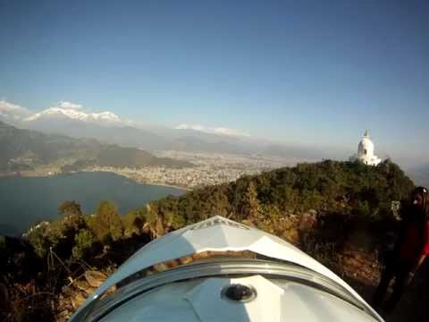 Going up the shanti stupa- Pokhra, Nepal-2370