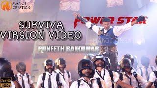 PUNEETH RAJKUMAR SURVIVA SONG VIRSION FULL HD VIDEO   MANOJ CREATION    WHATSAPP STATUS