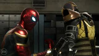 Spider Man PS4 Shocker Battle Suit Transition!