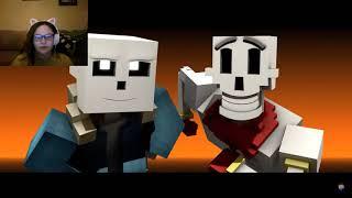 To the bone minecraft animation react/ The award of puns go to SANS!!