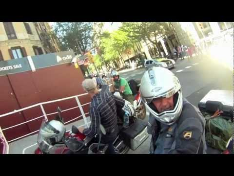 "Motorcycle Expedition –   video footage of ""The Gaudi Cathedral, Barcelona"""