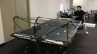 Highest speed, highest frequency Robo-Pong 2055 Backhand