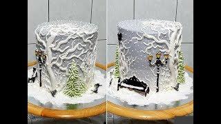 Торт ЗИМНИЙ- НОВОГОДНИЙ от SWEET BEAUTY СЛАДКАЯ КРАСОТА, WINTER CAKE DECORATION