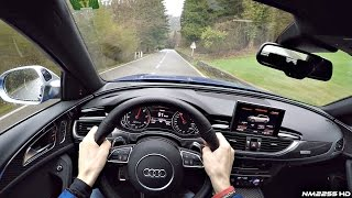 POV Drive in the 605HP Audi RS6 Performance - LOUD Sounds & Exhaust Crackles!
