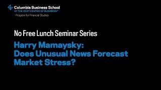 News and Market Stress