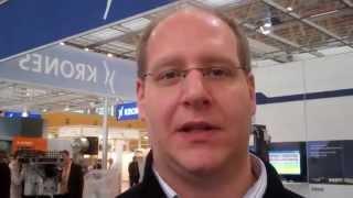 Live von der BRAU Beviale 2012 - Fachlehrer Jens Hasselmeyer auf dem Krones Stand