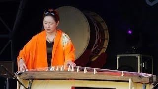 A performance by Japanese Koto player Fuyuki Enokido