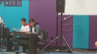 Spider Dance Piano Duet Performance at School Talent Show