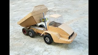 How to make a dump truck out of cardboard|| Caterpillar 725 truck|| RC RC  cardboard toys