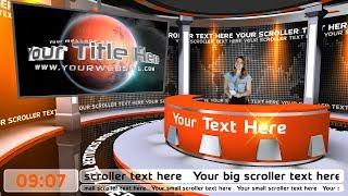 A virtual monitor in a virtual studio