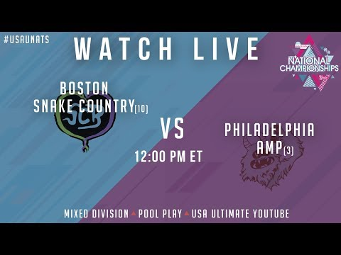 Video Thumbnail: 2019 National Championships, Mixed Pool Play: Boston Snake Country vs. Philadelphia AMP