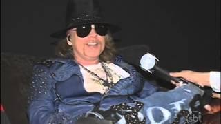 Jornal do SBT entrevista Guns N´ Roses após show em Brasília